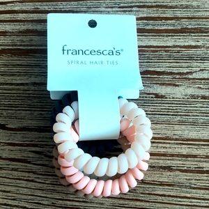 NWT: Francesca's spiral hair ties